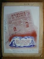 Autographes. Menu. Banquet Sous La Présidence De M. Pierre LAVAL. 7è  Assemblée Générale Du Syndicat Des Journaux ...... - Documentos Históricos