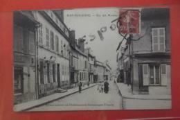 C P  Bar Sur Seine Rue Des Moulins Animé - Bar-sur-Seine