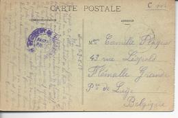 """54 Nancy FM""""2°régiment De Hussards* / Service Postal >> Flémalle Grande Belgique"""
