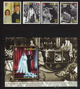 Kiribati 2007 Diamond Wedding Of HM Queen Elizabeth II & HRH The Duke Of Wellington.S/S And Stamps.MNH - Kiribati (1979-...)