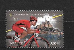 France':n°4762** Cycliste Portant Le Maillot Rouge Et Le Mont St Michel - Unused Stamps