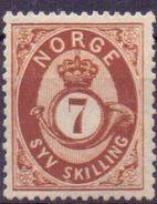 Norwegen Mi. 21 * (€ 40,00) - Ansehen!!