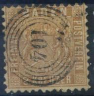 #17-01-00533 - Baden - 1862 - Mi. 15 - US - QUALITY:20% - 9 Kr. Wappen Arms