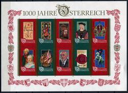 33433) ÖSTERREICH Block 12 Postfrisch Aus 1996, 18.- € - Blocks & Sheetlets & Panes