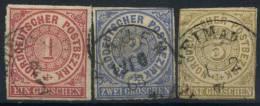 #17-01-00573 - North German Confederation - 1856 - Mi. 4-6 - US - QUALITY:100% - Conf. De L' All. Du Nord