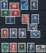 33434) ÖSTERREICH - Lot Postfrisch Aus 1948-54, 484.- €
