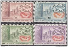 394 Guinea 1965 Nazioni Unite ICY Emblema Full Set Nuova MNH