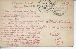"""87 St-Yrieix FM""""1°et 201°regt D'infanterie*service Postal* /9 Mai 1916"""