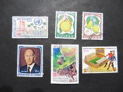 Guinée : Poste Aérienne  :6 Timbres Oblitérés