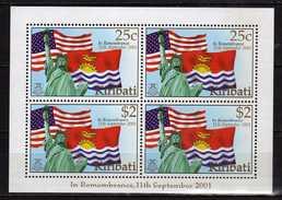 Kiribati 2002 In Remembrance - Victims Of Terrorist Attacks On The United States Of America, 11 September 2001.S/S.MNH - Kiribati (1979-...)