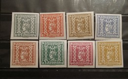 Austria, 1921, Mi: 409/16 (MNH)
