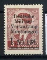 #17-01-06165 - Montenegro - 1943 - Sass. 3 - MNH - QUALITY:40% - Deutsche Militaer 1,5 Su 3 D.