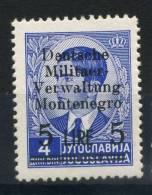 #17-01-06168 - Montenegro - 1943 - Sass. 6 - MNH - QUALITY:40% - Deutsche Militaer 5 L. Su 4 D.
