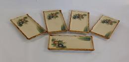 5 Rectangular Individual CeramicPlates - Borden
