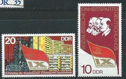 DDR  1976  Mi 2123 - 2124  Parteitag Der SED