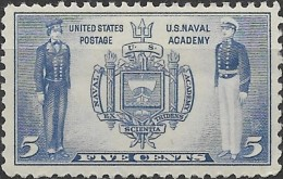 USA 1936 Army & Naval Heroes - 5c Seal Of Naval Academy & Cadets MNH