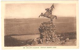 Ballon D'Alsace - Statue De Jeanne D'Arc - Publicité Hotel Jumenterie Propr. Armand Mey Verso - 1938