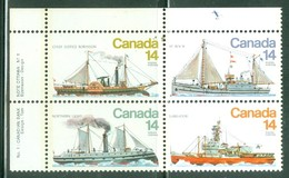 Canada 1978 Bloc Mint Y&T 685/688   (Bloc Avec Inscription Marginale) Bateaux Brise-glaces