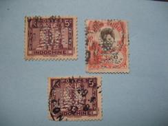 Perforé  Perfin  Indochine,  Lot De Timbre Perforé De Perforation : BIC    à Voir - Indochina (1889-1945)