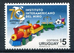 Uruguay 1997 Soccer Ball Set Of 1 MNH*VF Train Football Map