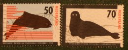 Bedreigde Dieren NVPH 1338-1339 (Mi 1279-1280) 1985 Gestempeld / USED NEDERLAND / NIEDERLANDE