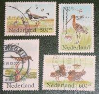 Zomerzegels Summer Sommer Vogel Bird NVPH 1301-1304 (Mi 1246-1249); 1984 Gestempeld / USED NEDERLAND / NIEDERLANDE