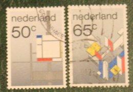 Beweging De Stijl Art Painters NVPH 1287-1288 (Mi 1234-1235); 1983 Gestempeld / USED NEDERLAND / NIEDERLANDE