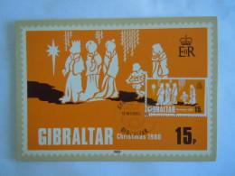 Gibraltar 1980 Noël Kerstmis Christmas Les Rois Mages Drie Koningen Yv 416 Carte Maximum