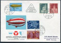 1976 Switzerland Luftschiff Verkehrshaus Luzern Cover Triengen - Covers & Documents