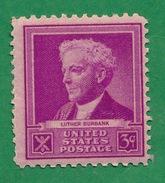 United States - 1940 - Luther Burbank - Scott #876 - MNH