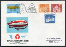 1976 Switzerland Luftschiff Verkehrshaus Luzern Cover Sursee - Covers & Documents