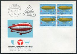 1976 Switzerland Luftschiff Verkehrshaus Luzern Cover. Sursee - Switzerland
