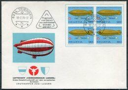 1976 Switzerland Luftschiff Verkehrshaus Luzern Cover. TRIENGEN - Covers & Documents