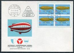 1976 Switzerland 2 X Luftschiff Verkehrshaus Luzern Covers Sursee + Triengen - Switzerland