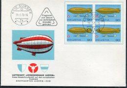 1976 Switzerland 2 X Luftschiff Verkehrshaus Luzern Covers Sursee + Triengen - Covers & Documents