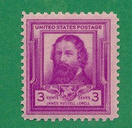 United States - 1940 - James Russell Lowell - Scott #866 - MNH