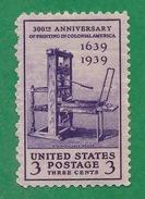 United States - 1939 - Stephen Daye Press - Scott #857 - MNH