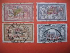 Perforé  Perfin Maroc,  Lot De Timbre Perforé De Perforation : BEMC    à Voir - Marokko (1891-1956)