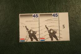 PAAR Schaatsen Skating NVPH 1261 (Mi 1199); 1982 Gestempeld / USED NEDERLAND / NIEDERLANDE