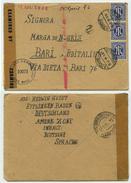 GERMANIA (BIZONA) - Lettera 1946 Da Ettlingen (Baden) A Bari - CENSURA - Con Contenuto - American/British Zone