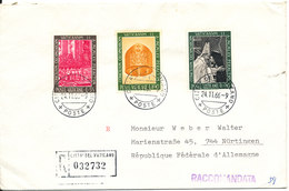 Vatican Registered Cover Sent To Germany 24-11-1966 - Covers & Documents