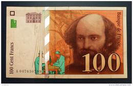 """Banknoten, France - 100 Cent Francs - 1998 """"Cezanne"""" - 1992-2000 Aktuelle Serie"""