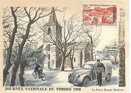 ALGERIE  PHILIPPEVILLE  Journée Du Timbre 1968 Distribution Postale Motorisée  15/03/58