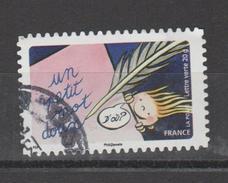 """FRANCE / 2014 / Y&T N° AA 1050 : """"Bonne Année Toute L´année"""" (Un Petit Mot Doux) - Choisi - Cachet Rond - France"""