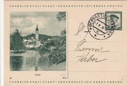 Tchécoslovaquie Entier Postal Illustré 1938