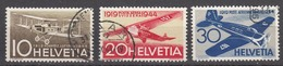 Switzerland 1944 Air Mail, Cancelled, Sc# C37-C39