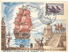 ALGERIE  PHILIPPEVILLE  Journée Du Timbre 1957 Service Matitime Postal  16/03/57