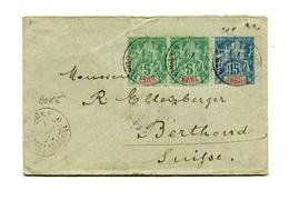 !!! GUINEE : ENTIER POSTAL + COMPLTS CACHET DE BOKE DE 1896 POUR LA SUISSE