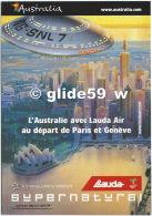 Carte Pub. L'Australie Avec Lauda Air Au Départ De Paris Et Genève - Advertising