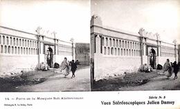 # Algérie - CP Stéréoscopique - Porte De La Mosquée Sidi Abdheraman - Estereoscópicas